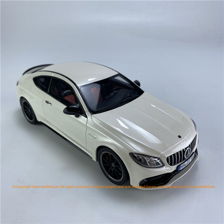 GT Spirit 1:18 Mercedes-AMG C63 S Coupe (W205) Diamond White   (CLDC004)  Resin car model available on End of MAY 2021 Pre-order now
