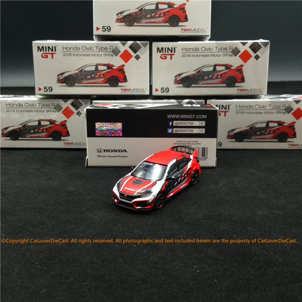 Mini GT 1:64 Honda Civic Type R (FK8) Indonesia Motor Show 2018 (MGT00059-R) disponible le 27 juillet 2019