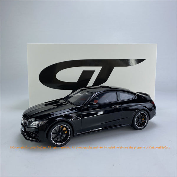 GT Spirit 1:18 Mercedes-AMG C63 S Coupe (W205) OBSIDIAN BLACK  (CLDC005) CarLoverDieCast Exclusive Edition Resin car model available now