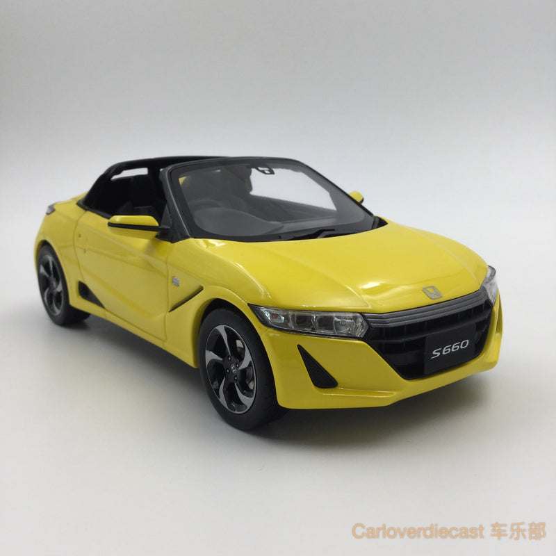 (Kyosho Samurai) Honda S660  resin scale 1:18 (Yellow) KSR18016Y-B available now