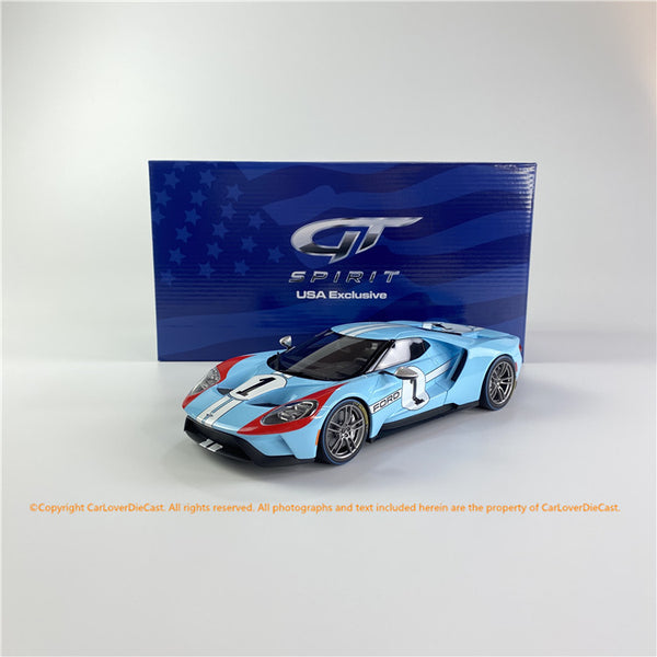 GT Spirit 1:18 2020 Ford GT - #1 1966 Le Mans Heritage Edition (US027) limited 800 resin car model