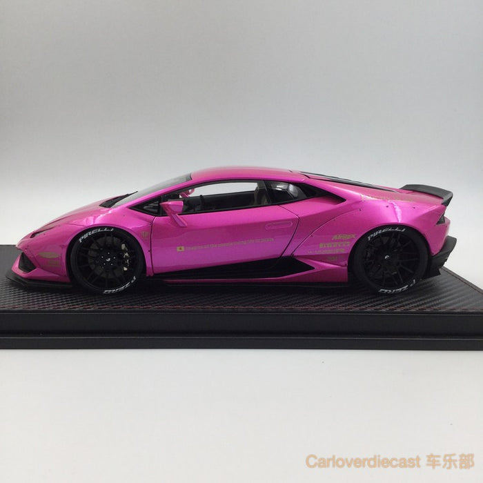(ACM) Huracan LB Works Diecast Scale 1:18 (Flash Pink interior creamy-white) custom made lead time 2 weeks