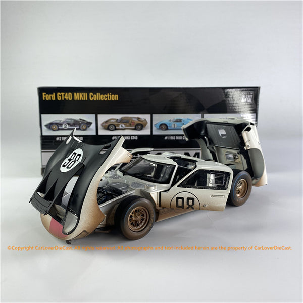 ACME 1:18  #98 GT40 MKII 1966 Daytona White  After Race  ALL-OPENED (SC-415R) diecast car model