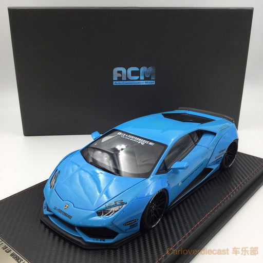 (ACM) Huracan LB Works Diecast Scale 1:18 (Baby Blue interior Black) Limited Edition 20pcs  Ready Stock
