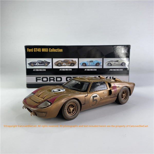 ACME 1:18  Ford #5 GT40 MKII 1966 SEBRING GOLD After Race ALL-OPENED (SC-403R) diecast car model