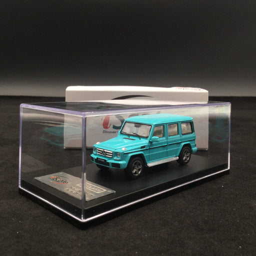 iScale 1:64 Mercedes W463 G-Klasse (Tiffany Blue ) diecast car model with display case and cover