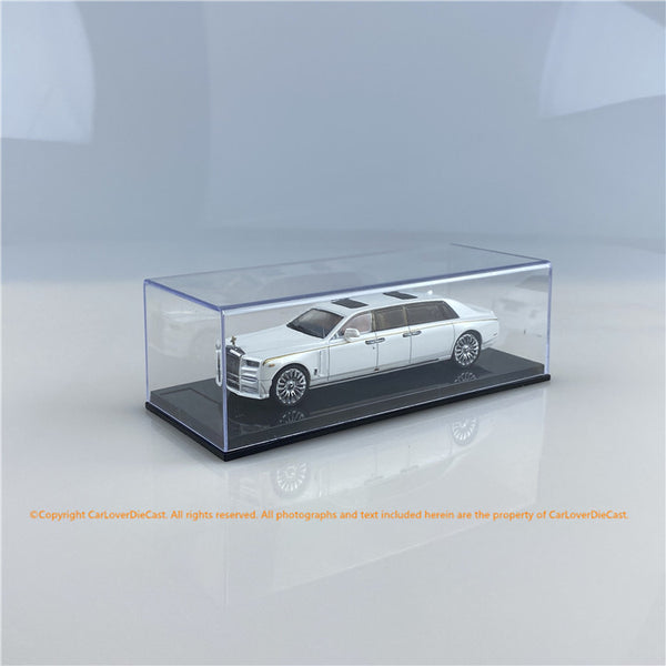 SMALLCARART 1:64  RR Phantom Generation 8 EWB Pearl White (SK164007W) Diecast Car available on End of SEP Pre-order Item