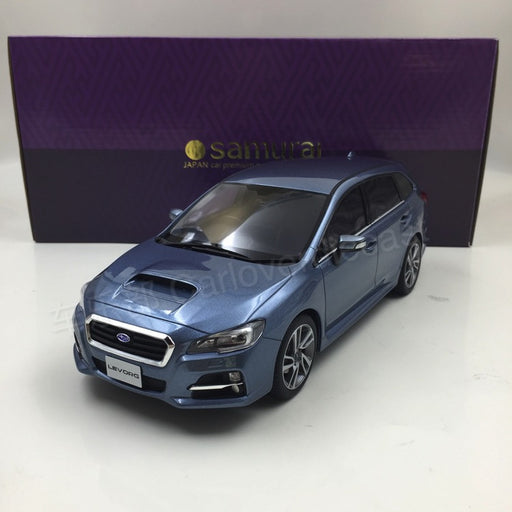 Kyosho samurai - SUBARU LEVORG 1.6GT-S Eyesight 2015 resin scale 1:18 in light blue  KSR18015BL