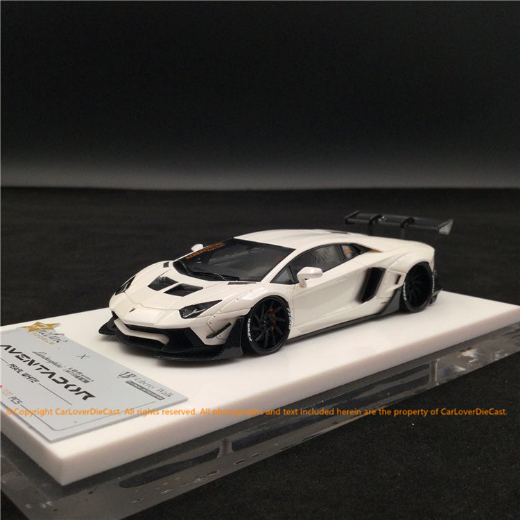 Fuelme 1:43 Liberty Walk Aventador 50th Limited edition (Pearl White) FM43008lm-50LE-JN18 resin car model available now