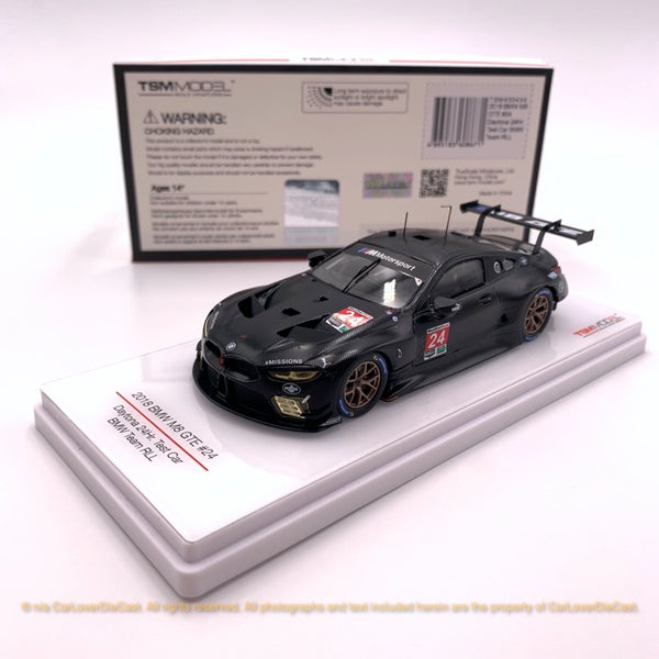 TSM 1:43 BMW M8 GTLM #24  2018 Daytona 24Hr Test Car BMW Team RLL  (TSM430434) resin model available now