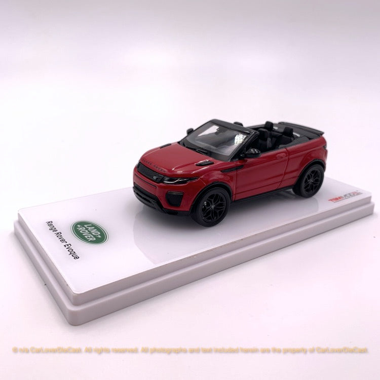 TSM 1:43 LandRover Range Rover Evoque Convertible  Firenze Red (TSM430155) DIECAST MODEL available now