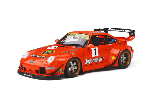 GT Spirit 1:18 RWB 993 Jagermeister Orange (KJ039) resin car model available on March 2020 Pre-order item
