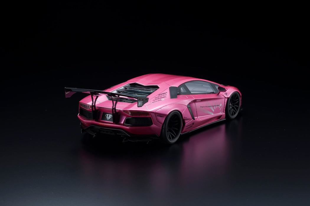 Kyosho Samuari LB☆WORKS AVENTADOR (Pink) Resin Scale 1:18 (KSR18502CP-B) available now