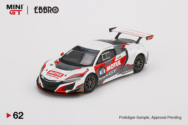 MINI GT x EBBRO 1:64 Honda NSX GT3 #10  2018 Suzuka 10 Hr.  Honda Team Motul Racing (MGT00062-L) LHD available on end of Sep 2020 pre-order item