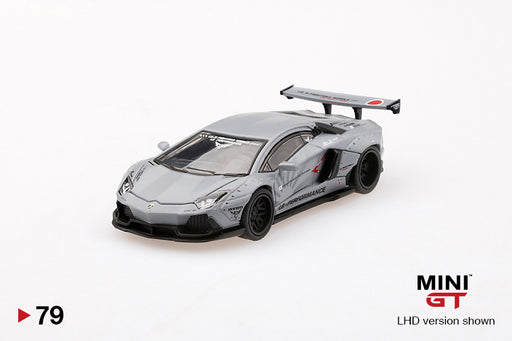 MINI GT 1:64 LB★Works Lamborghini Aventador  LB-R Fighters Works  Matte Grey (MGT00079)  available on End of Nov 2019 pre-order item