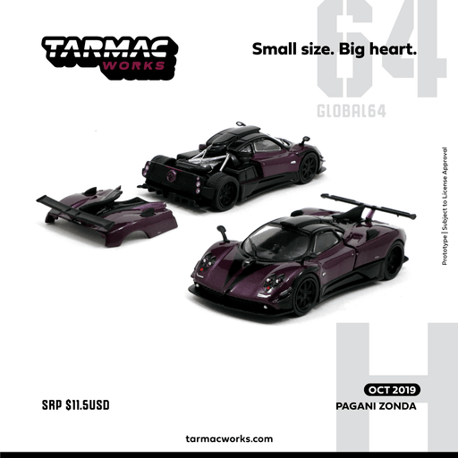 Tarmac Works 1:64  Pagani Zonda diecast model ( T64G-006-LH) available on Oct 2019 pre-order item