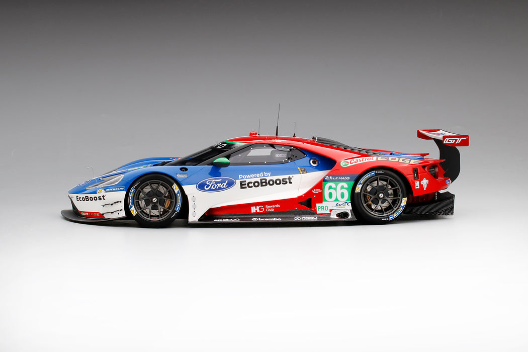 (TopSpeed) Ford GT #66 LMGTE PRO 2016 Le Mans 24 Hrs / 4th Place Ford Chip Ganassi Team UK Scale 1/18 Resin Model Limited 999 pcs TS0066 available date to be advise (waiting for Topspeed update)