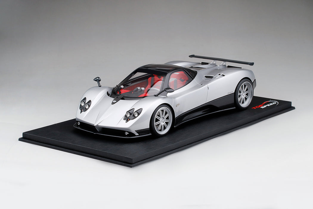 TopSpeed) Pagani Zonda F (Silver) Scale 1/18 Resin Model Limited 999 ...