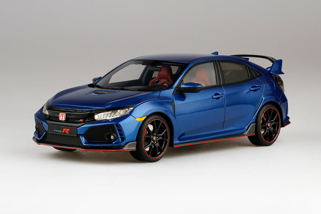 TopSpeed - Honda Civic Type R (Aegean Blue Metallic) LHD  Resin Scale 1:18 TS0155 available on March 2018 Pre-order now