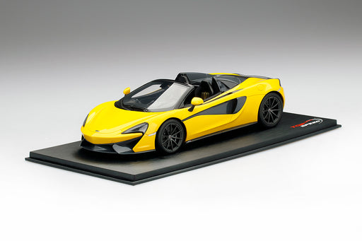 Topspeed - McLaren 570S Spider Volcano Yellow  resin scale 1:18 TS0204 available on April 2018