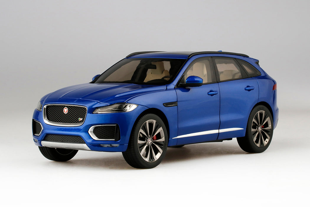 TSM 1:18 Jaguar F-Pace Diecast Full open (Blue) TSM18028 available on July 2018 pre-order now