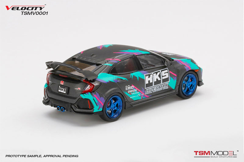 TSM Model 1/43 Honda Civic Type R (FK8) HKS  2018 Time Attack(TSMV0001)diecast Car model available on End of October 2020 pre-order item