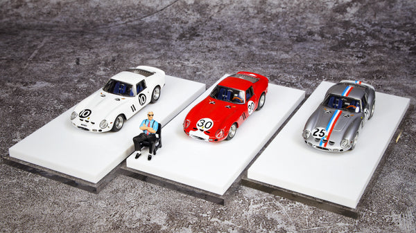 JEC  1:64 250 GTO resin car model free with Figure (3 colors option)