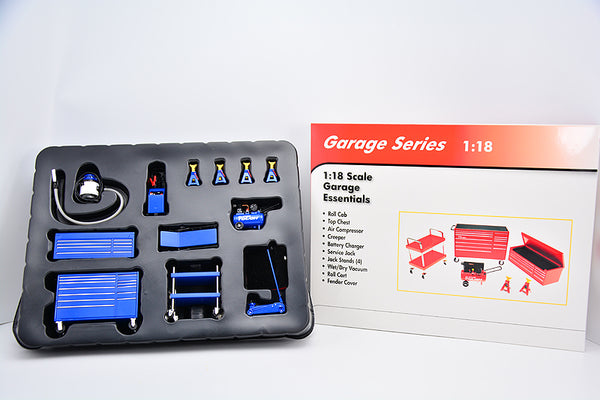 Garage series 1:18  Garage tools model (diecast+ABS) in Blue color