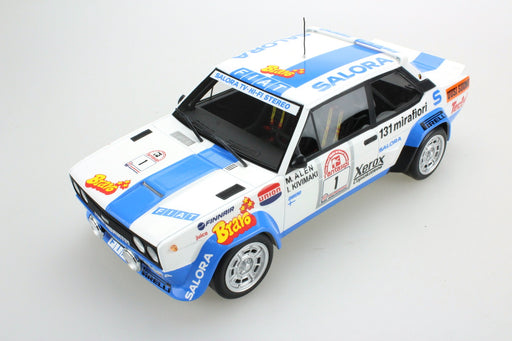 Top Marques - Fiat 131 Abarth #1 winner Rally 1000 Lakes 1980 resin scale 1:18 (TOP43E) available on end of March pre-order now