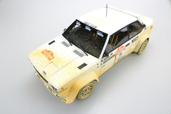 Top Marques - Fiat 131 Abarth #2 winner 1980 Dirt Version resin scale 1:18 (TOP43DD)available on end of March pre-order now