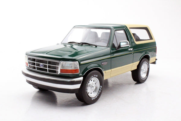 LS Collectibles 1:18 Ford Bronco 1992, Metallic green (LS055B) resin car model available on end of May 2020 pre-order item