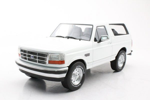 LS Collectibles 1:18 Ford Bronco 1992, White (LS055A) resin car model available on end of May 2020 pre-order item