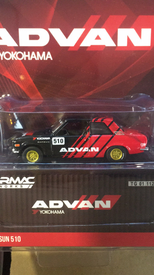 Tarmac Works + Greenlights 1:64 Datsun 510 ADVAN diecast car model