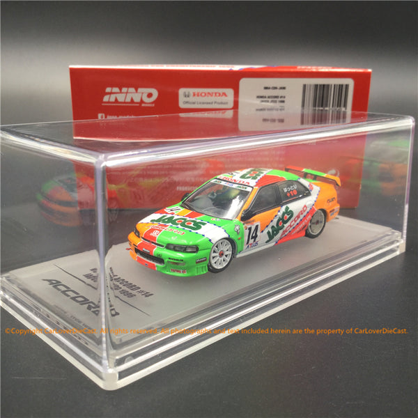 "INNO 1:64 HONDA ACCORD CD6 # 14 ""JACCS"" JTCC 1996 Modèle de voiture moulé sous pression (IN64-CD6-JA96) disponible maintenant"