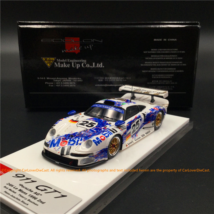 Makeup 1:43 Porsche 911 GT1 1996 24 hours (EM328A) resin car model available now