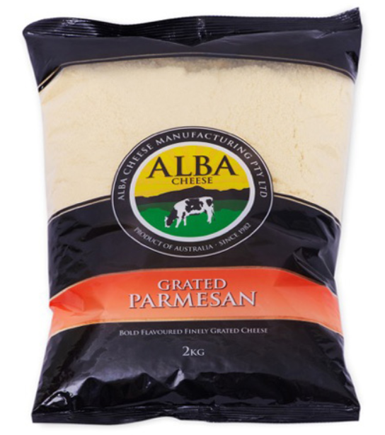 Alba Cheese Parmesan Grated 2kg