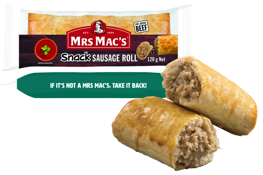 Mrs Mac's Snack Sausage Roll 24x120gm