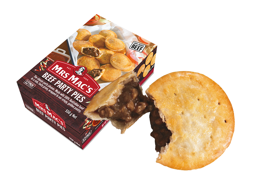 Mrs Mac's Beef Party Pies 72x46gm