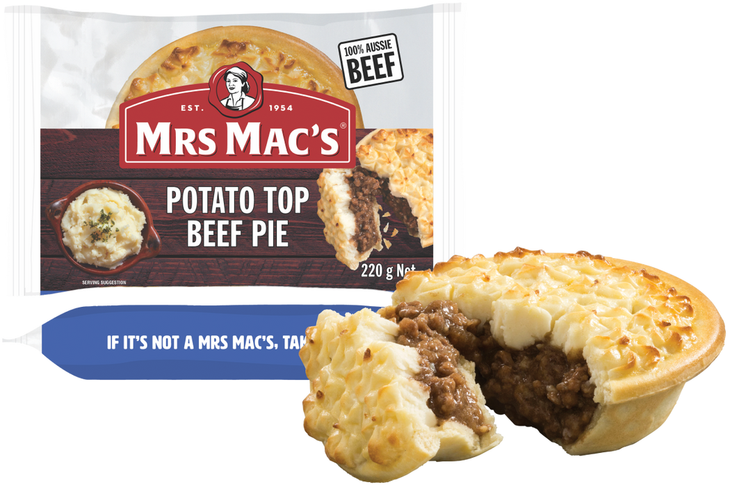 Mrs Mac's Potato Top Beef Pie 180gm x 18