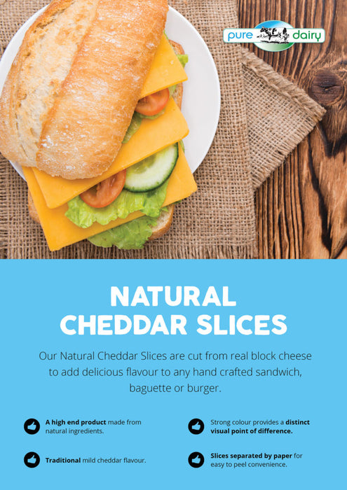 American Style Burger Cheese Cheddar Slices 1.5kg