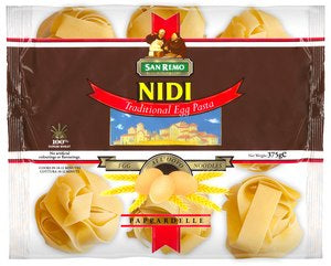 San Remo Pappardelle Egg Ndle 375gm