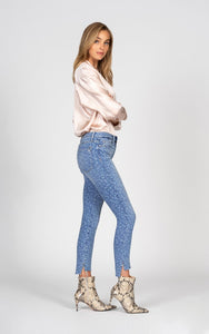 Miranda Off Step High Rise Skinny with Laser Leopard - After Hours