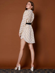 Lenten Rose Wrap Shirt Dress