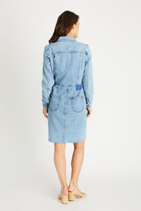 Jordyn Dress - Ice Blue Indigo