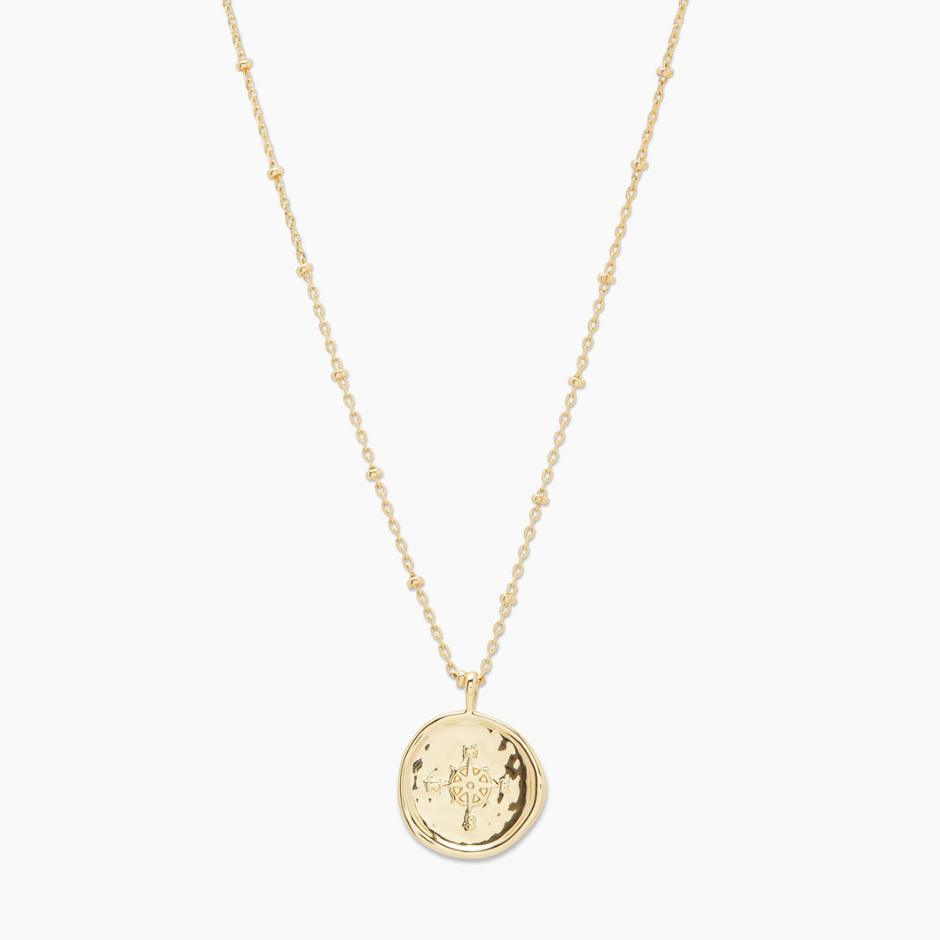 Compass Coin Necklace