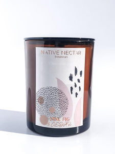 NATIVE NECTAR BOTANICALS PINK FIG & CEDAR CANDLE