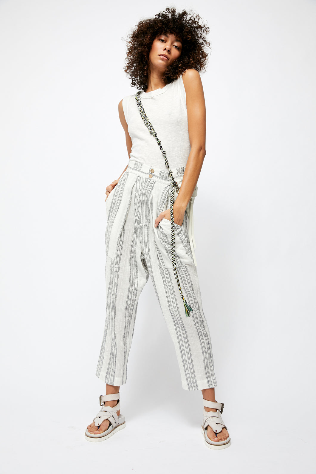 SEMI SWEET TEXTURED COTTON PANT