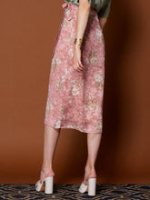 Load image into Gallery viewer, Ornate Floral Midi Wrap Skirt