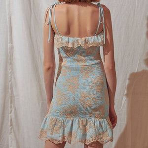 STORIA LACE DETAIL MINI DRESS