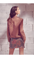 Load image into Gallery viewer, THE KELLY VEGAN LEATHER MOTO JACKET